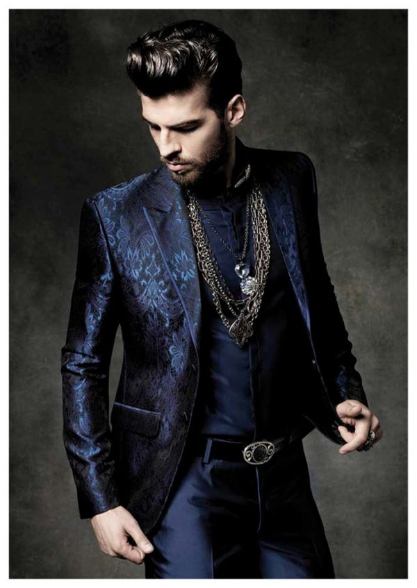 Miami Blue Tuxedo Suits