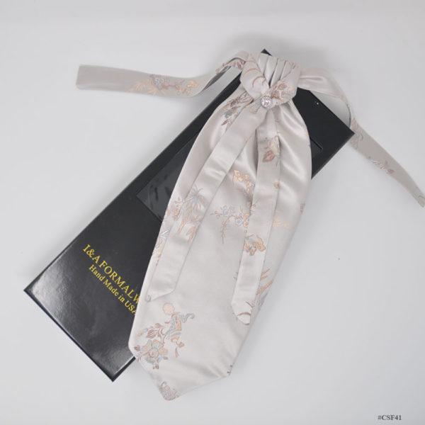 Men Silk Ascot Tie