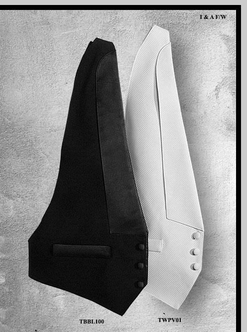 Black Tuxedo Waistcoat